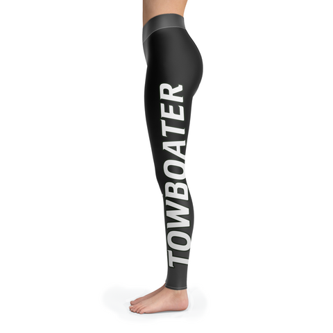Spoiled By A Towboater Black Leggings