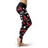 Image of Towboaters Ugly Christmas Leggings PAT3 PINK ANCHOR