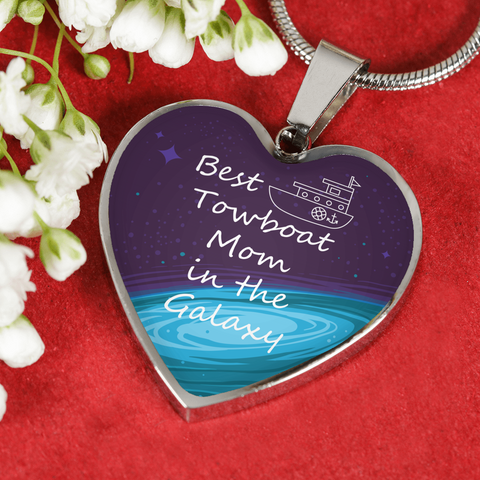 Best Towboat Mom In The Galaxy Necklace