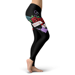 Refuse To Sink Leggings With Roses