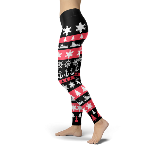 Towboaters Ugly Christmas Leggings PINK