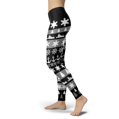 Towboaters Ugly Christmas Leggings GREY