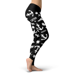 Towboaters Ugly Christmas Leggings PAT2 BLACK