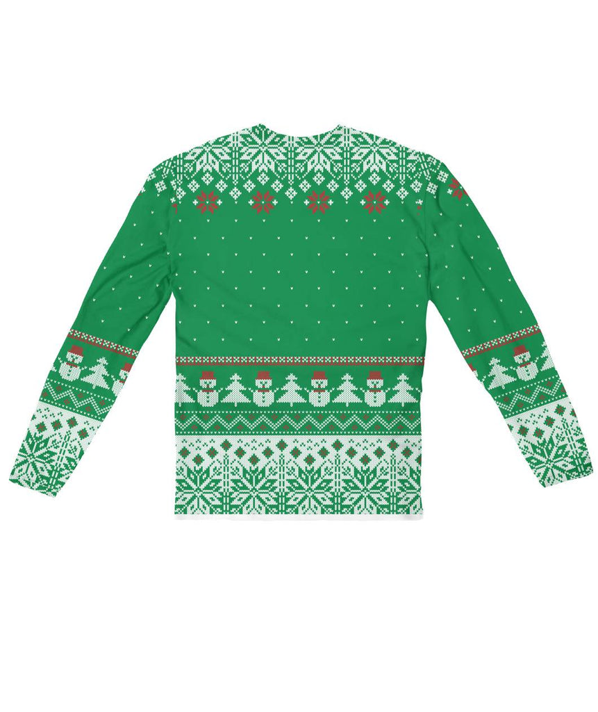 Ugly Christmas Sweater Design.Ugly Christmas Sweater Design Green Sublimation Long Sleeve