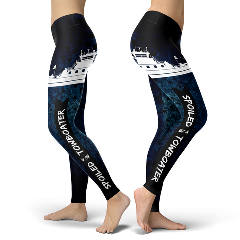 Spoiled By A Towboater Towboat Leggings