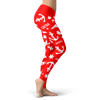 Image of Towboaters Ugly Christmas Leggings PAT2 RED