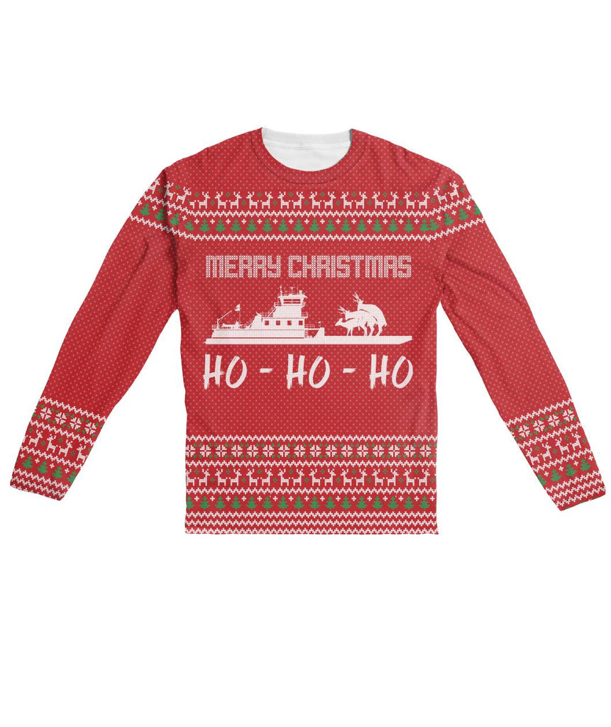Ugly Christmas Sweater Design.Funny Ugly Christmas Sweater Design Red Sublimation Long Sleeve