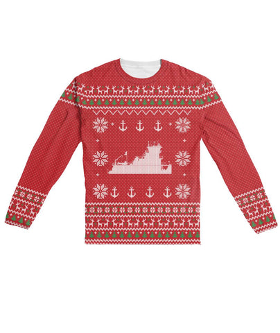 Ugly Xmas Sweater Design Red - Longsleeve Sublimation