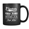 Image of Funny Captain Mug Black Edition