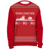 Image of Towboater Ugly Christmas Sweater - Merry Christmas HoHoHo Red