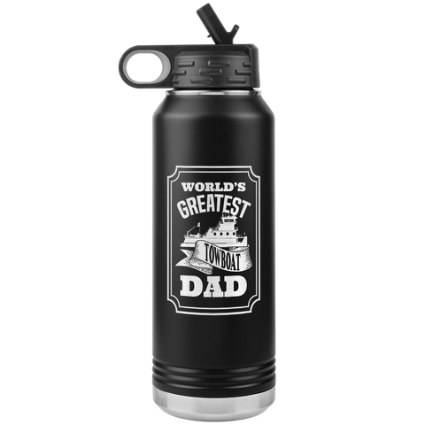 World's Greatest Towboat Dad - Jumbo 32oz Water Bottle