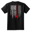 Image of Patriotic Fishing Flag Tee