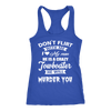 Image of Funny Towboaters Spouse Tank Top - Don't Flirt With Me