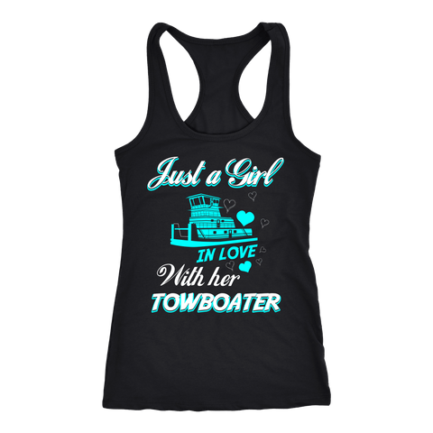 Just a Girl In Love With Her Towboater Tank Top