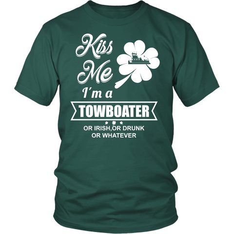 Kiss Me I'm a Towboater - Funny St Pat day Tshirt