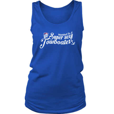 Married To A Towboater Tank Top