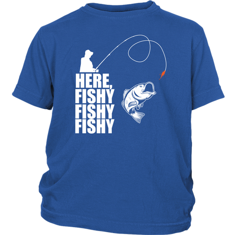 Here Fishy - Funny Fishing Tees