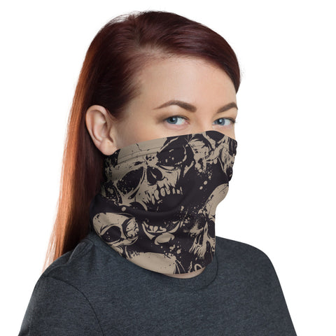Towboater  Accessories Neck Gaiter Skull Brown