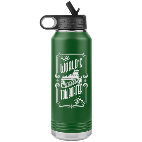 World's Greatest Towboater - Jumbo 32oz Water Bottle