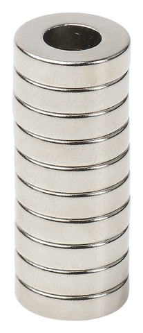 BYKES 10 Neodymium Magnets Strong Magnets Refrigerator Magnets Super Strong Rare Earth Magnets 1/2 x 1/4 x 1/8 inch Ring N48
