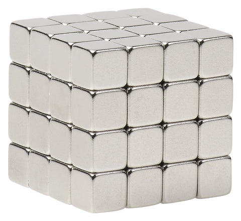 Great Gift Idea. - BYKES 64 Neodymium Super Strong Extremely Powerful Rare Earth Refrigerator Magnets 1/4 inch Cube N48
