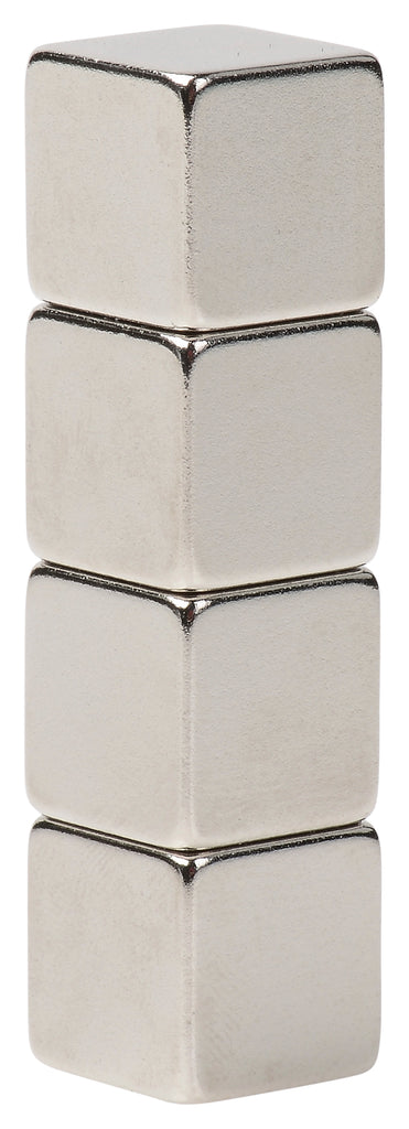 BYKES 4 Neodymium Super Strong Extremly Powerful Rare Earth Refrigerator Magnets 1/2 inch Cube N48