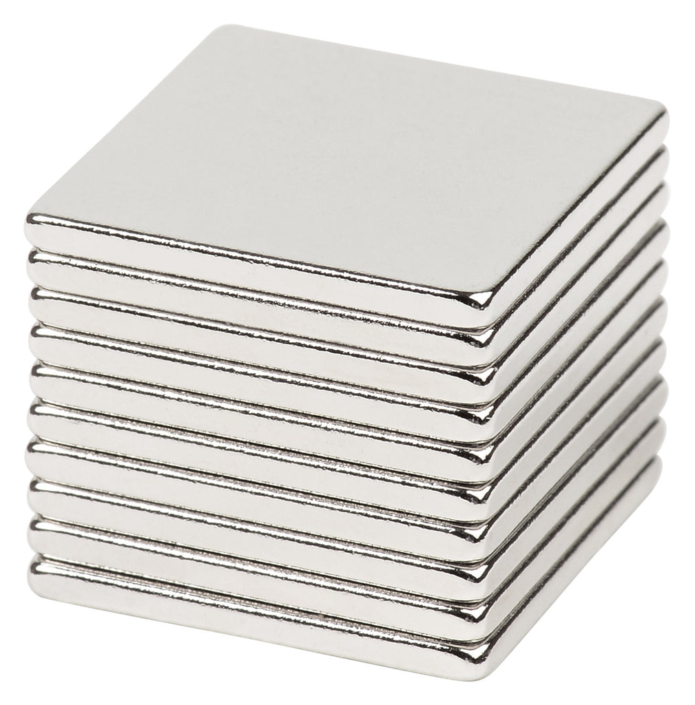 BYKES 10 Neodymium Super Strong Extremely Powerful Rare Earth Refrigerator Magnets 3/4 x 3/4 x 1/16 Inch Disc N48