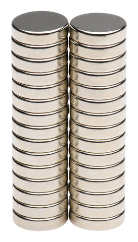 "BYKES 30-pc N45 Neodymium Super Strong Extremely Powerful Rare Earth Refrigerator Magnets 1/2 x 1/8"" Disc"