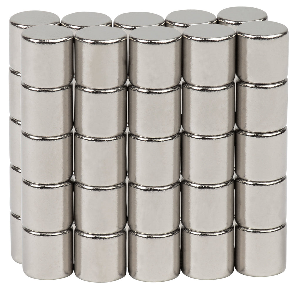 BYKES 50 Neodymium Super Strong Extremly Powerful Rare Earth Refrigerator Magnets 1/8 x 1/8 inch Cylinder N48