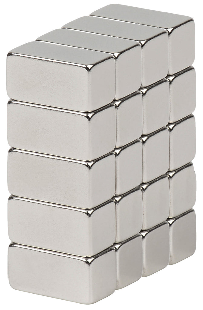BYKES 20 Neodymium Bar Magnets Strong Magnets Refrigerator Magnets Super Strong Rare Earth Craft Magnets 1/2 x 1/4 x 1/4 inch Bar N48