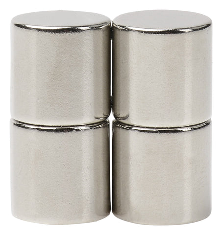 BYKES 4 Neodymium Super Strong Extremly Powerful Rare Earth Refrigerator Magnets 1/2 x 1/2 inch Cylinder N48