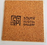 Ceramic Tile Coaster - Greetings From Austin Capitol of Texas