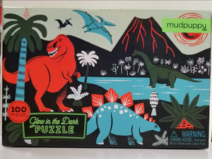 Puzzle- glow in the dark dinosaurs puzzle