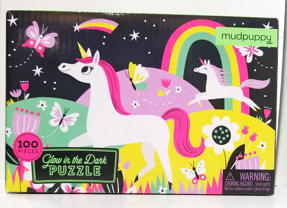 Puzzle- glow in the dark unicorn puzzle