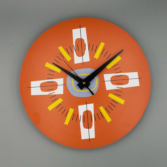 Atomic Wall Clock in Orange