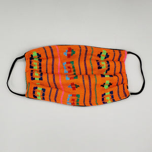 Face Mask by Mayan Expressions [Pattern on Orange]