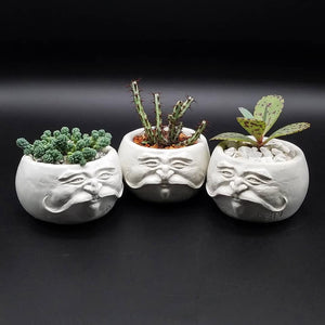 Face Pot - Mustachio by D. Edward Murray