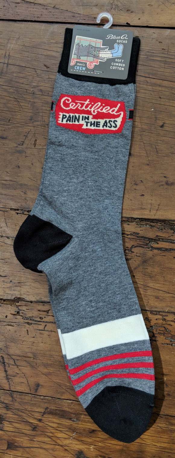 Socks - Men's Crew Socks -  Certified Pain in the Ass