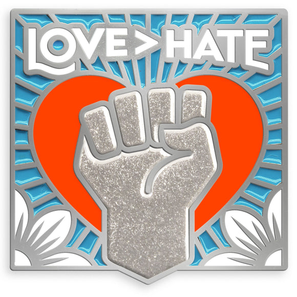 Enamel Lapel Pin - Love > Hate