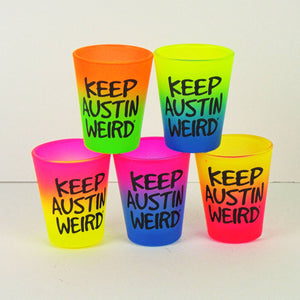 Shot Glass - Keep Austin Weird Rainbow