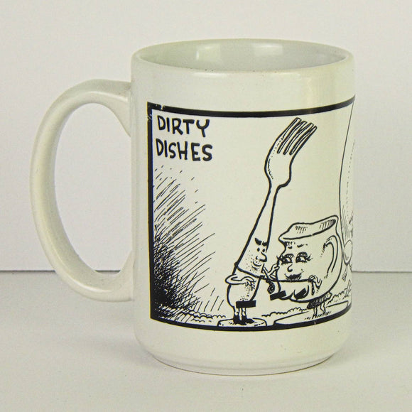 Ceramic Coffee Mug - Dirty Dishes by Sam Hurt