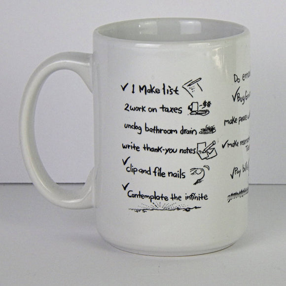 Ceramic Coffee Mug - The List by Sam Hurt