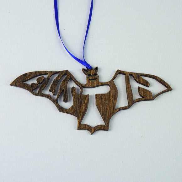 Wooden Laser Cut Ornament - Austin Bat
