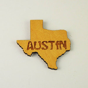 "Magnet - ""AUSTIN"" Texas State (Guitar Font)"