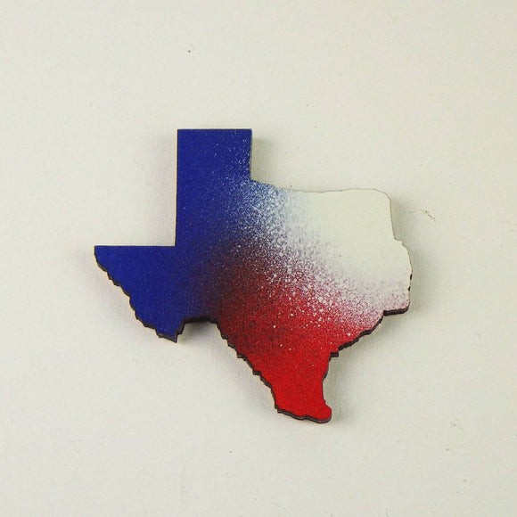 Magnet - Texas State, Red White & Blue