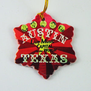 Ceramic Holiday Ornament - Live Music Capital