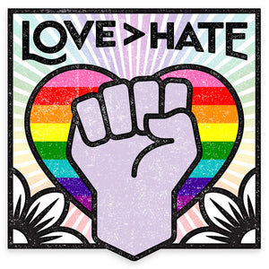 Sticker - Love > Hate (Rainbow)