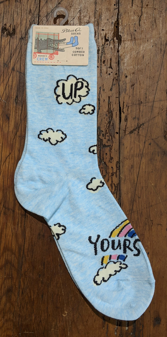 Socks - Women's Crew Socks - Up Yours