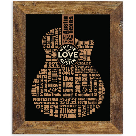 Framed Print -  Why We Love Austin 11