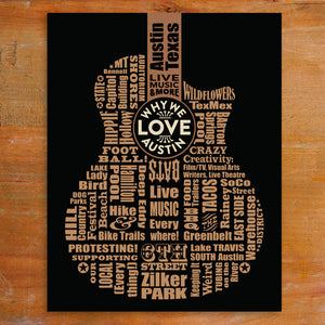 "Unframed Print -  Why We Love Austin 11"" x 14"""